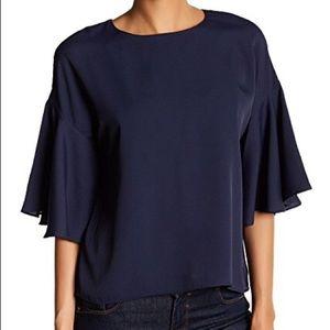 🌷 Catherine Malandrino violet bell blouse top XS